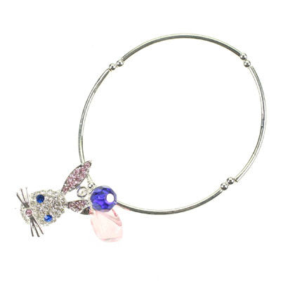 Seasons Jewelry Crystal Rabbit Stretch Bracelet