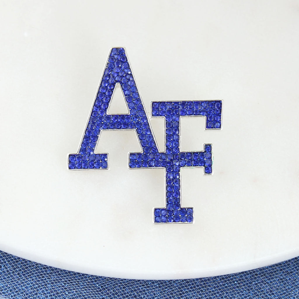Air Force Crystal Logo Pin