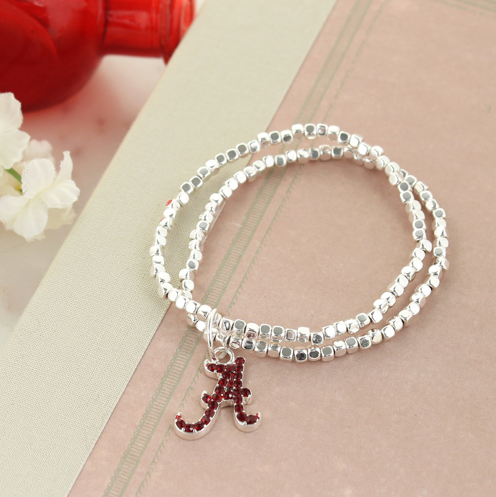 Alabama Crystal Logo Stretch Bracelet