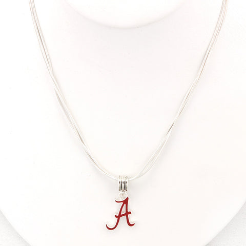 Alabama Enamel Logo Necklace