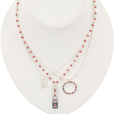 Seasons Jewelry Alabama Trio Necklace Set
