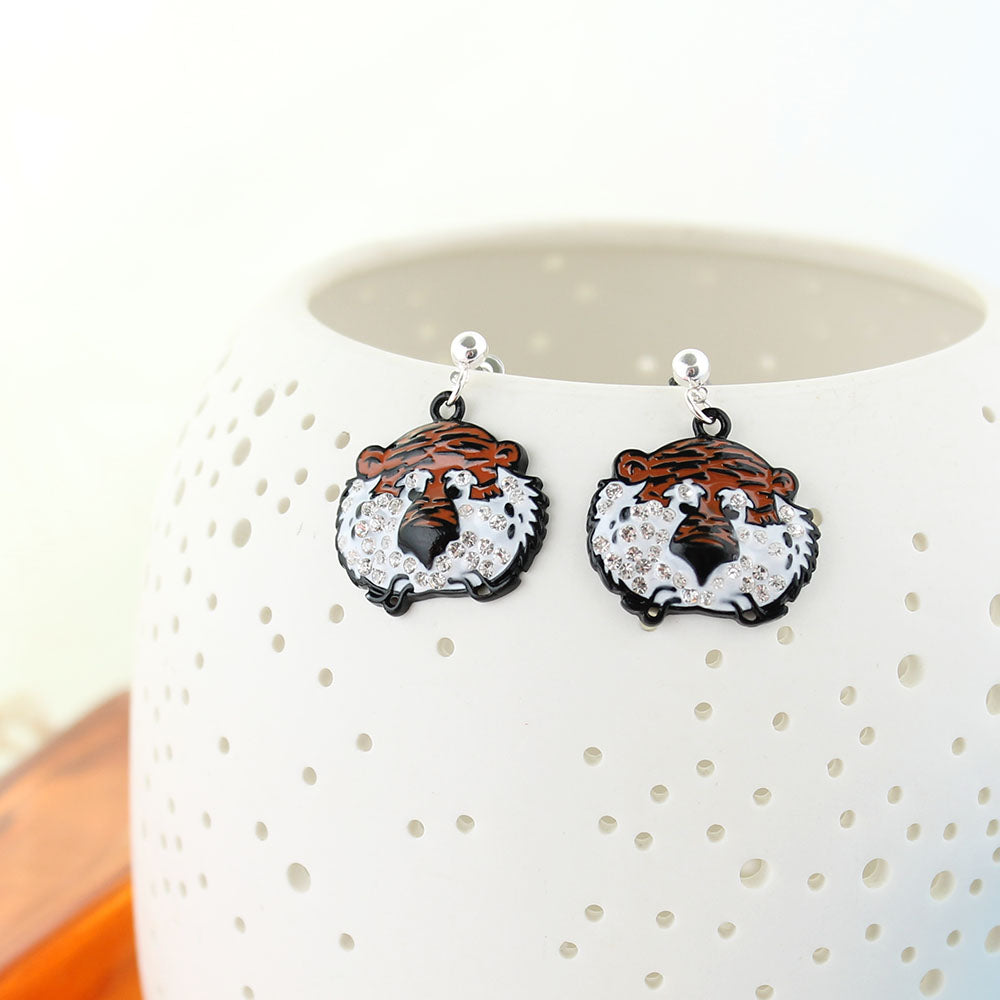 "Auburn ""Aubie"" Crystal Earrings"