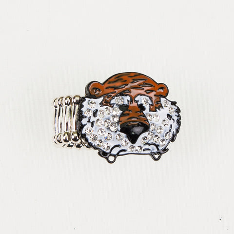 Seasons Jewelry Auburn Aubie Stretch Ring