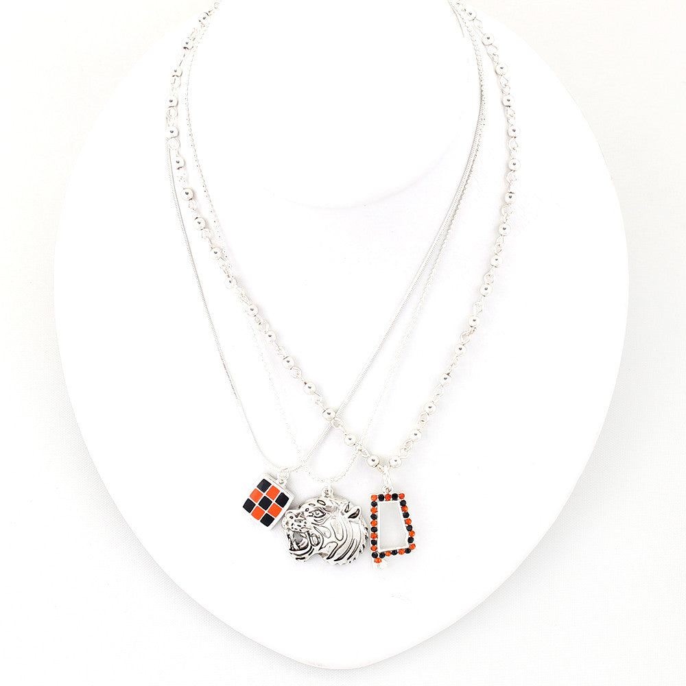 Auburn Traditions Trio Necklace