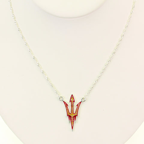 Arizona State Glitter Logo Necklace
