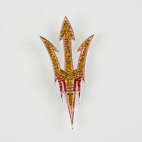 Arizona State Crystal Logo Pin