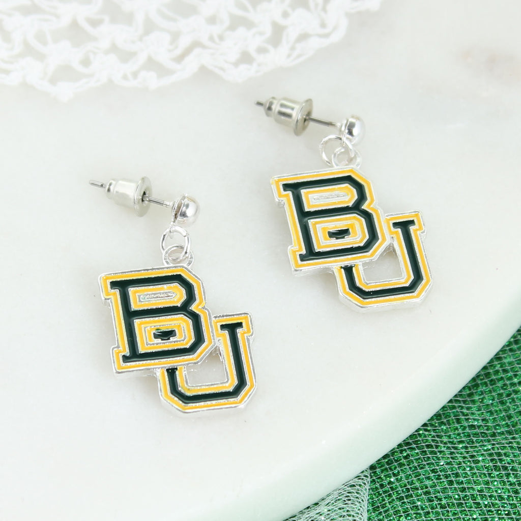 Baylor Logo Enamel Earrings