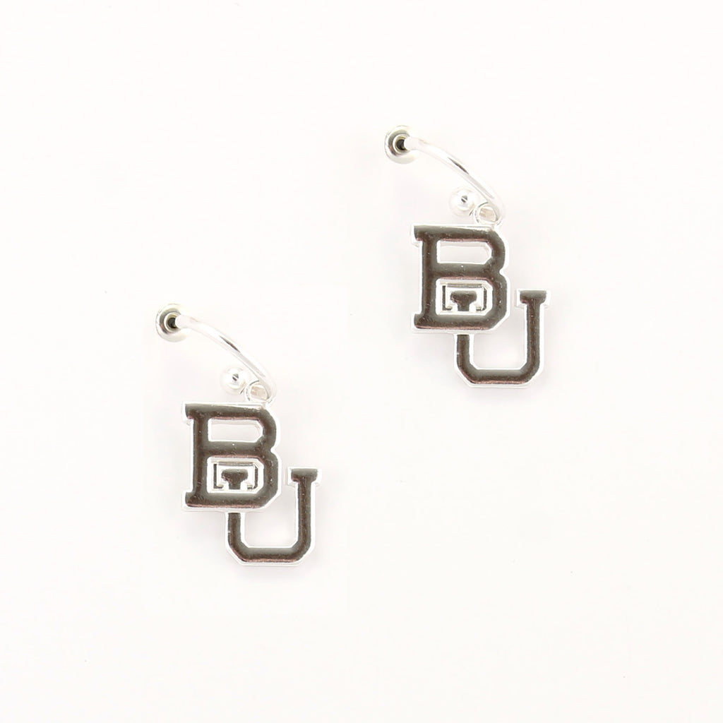 Baylor Logo Hoop Earrings