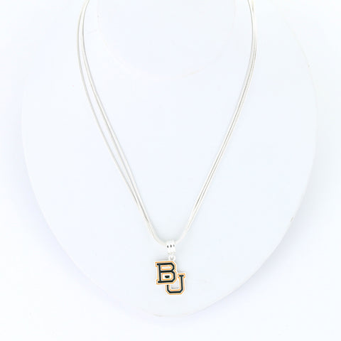 Baylor Enamel Logo Necklace