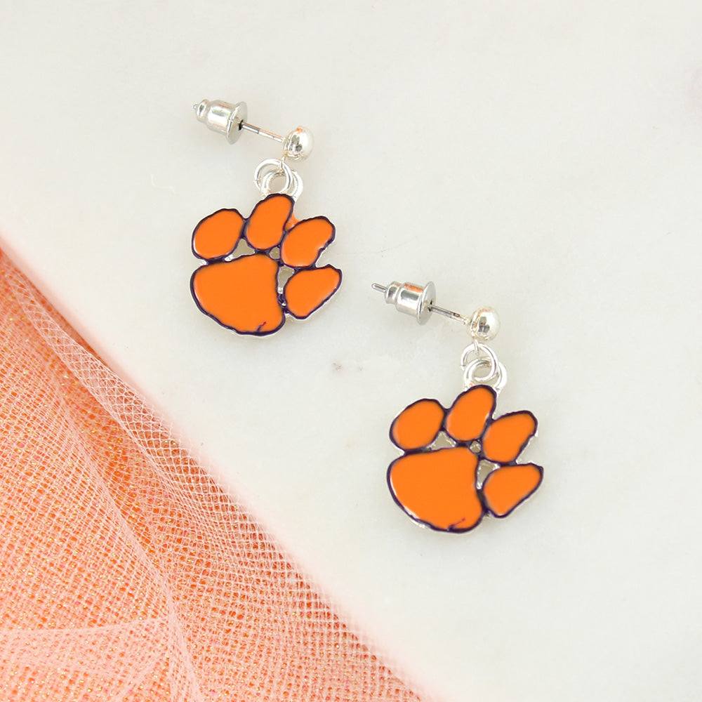 Clemson Enamel Logo Earrings