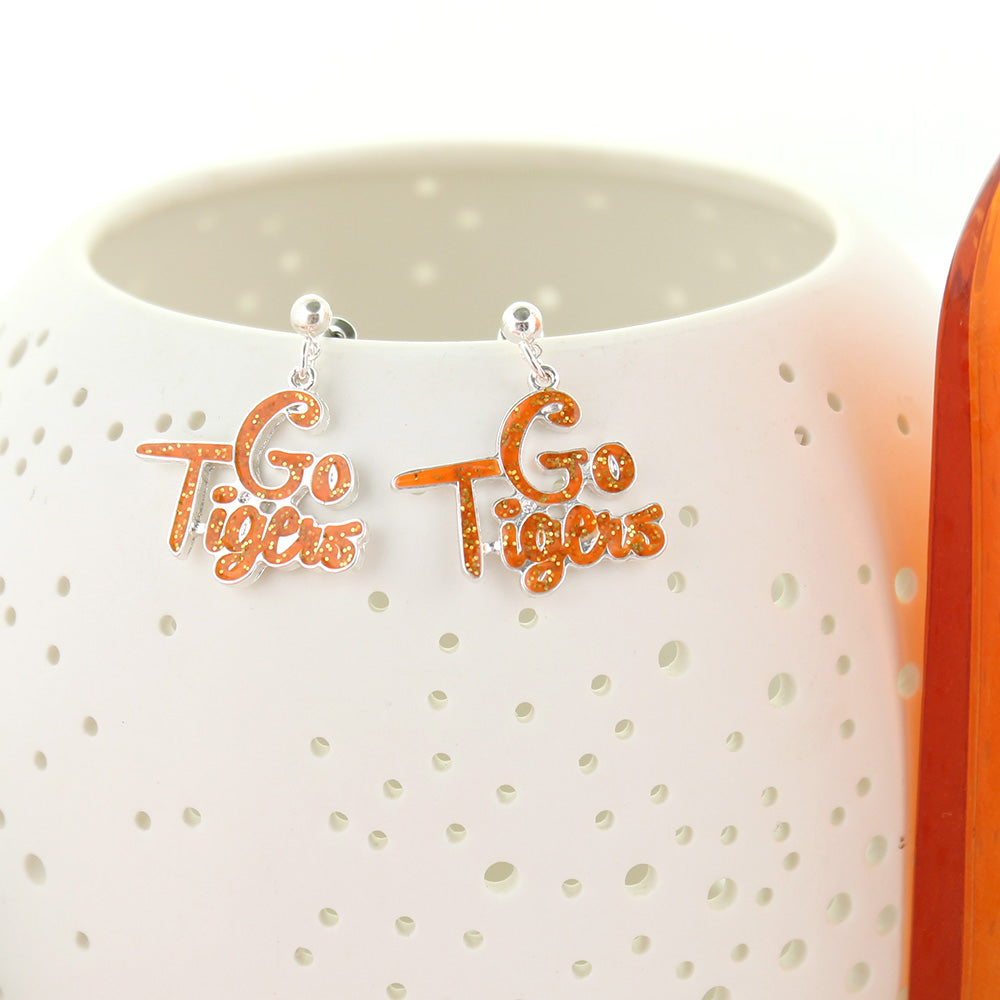 Clemson Slogan Earrings