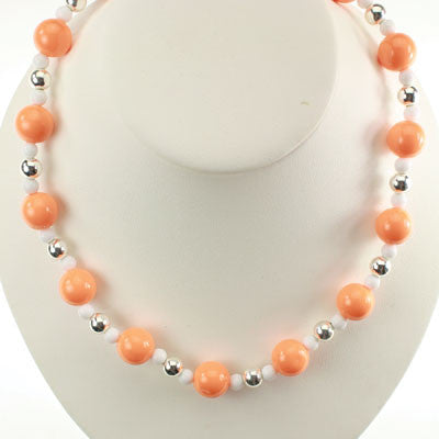 Seasons Jewelry Clemson Beaded Stretch Necklace