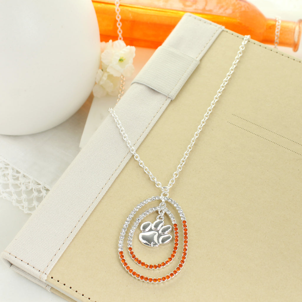 "34"" Clemson Crystal Loop Necklace"