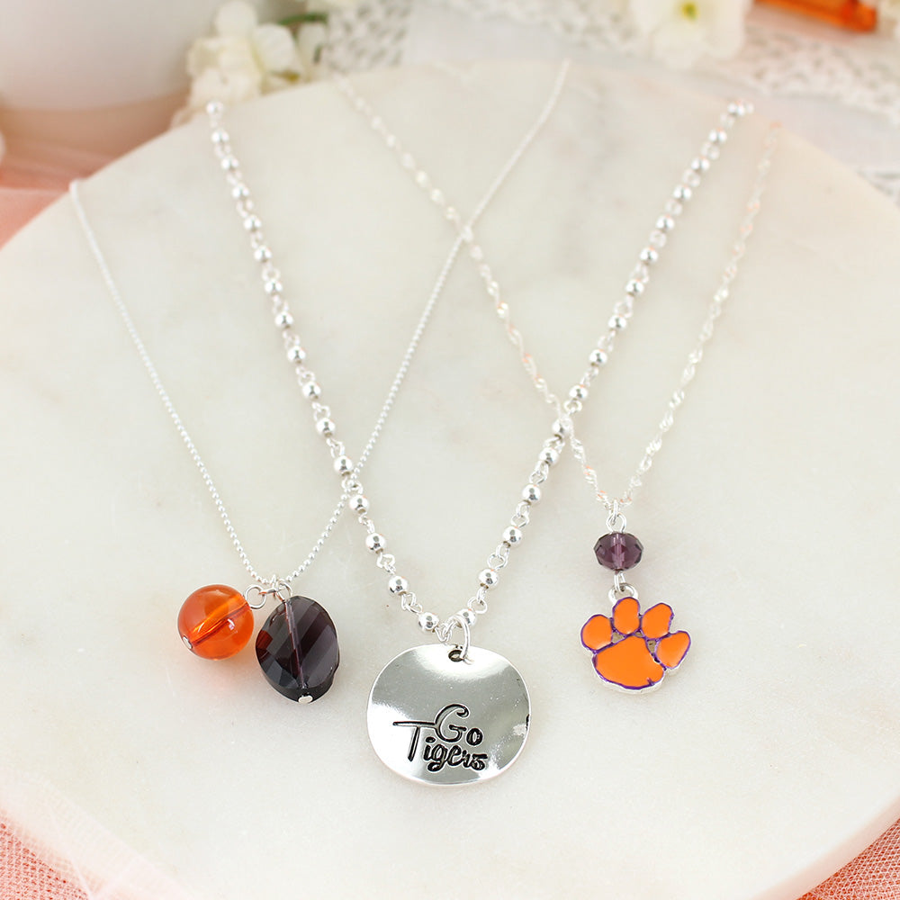 Clemson Trio Necklace Set