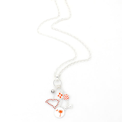 Clemson Traditions Cluster Necklace