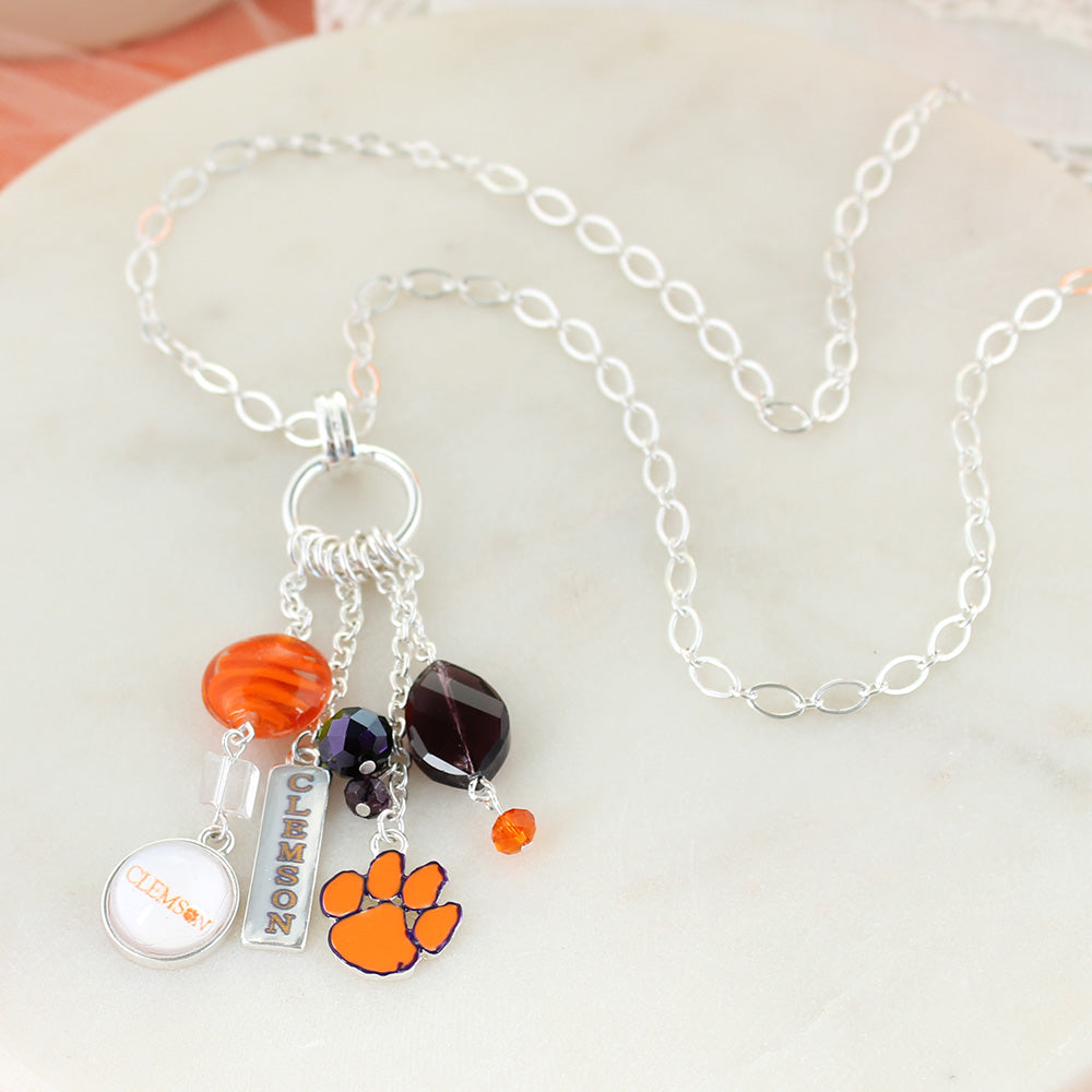 Clemson Cluster Necklace
