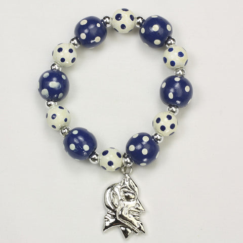 Duke Polka Dots Wood Bead Stretch Bracelet