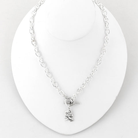 Duke Silver Logo Chain Necklace