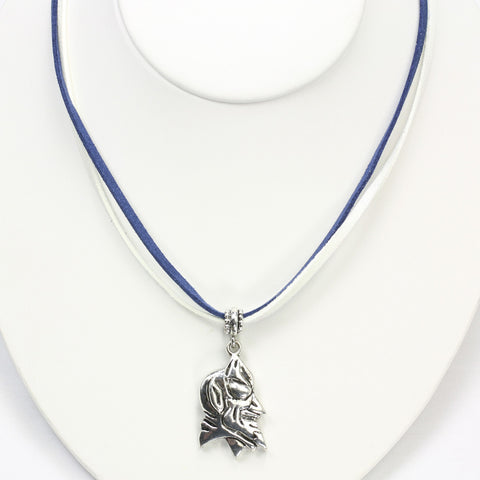 Duke Logo Double Suede Cord Necklace