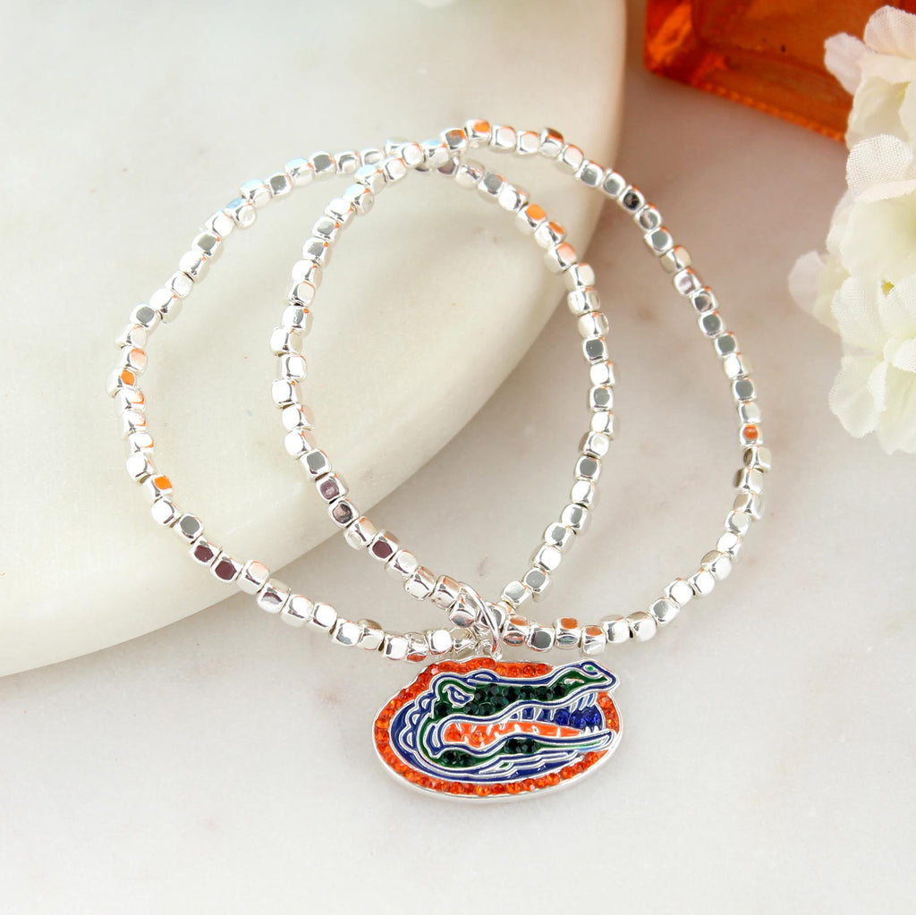 Florida Gator Crystal Logo Stretch Bracelet