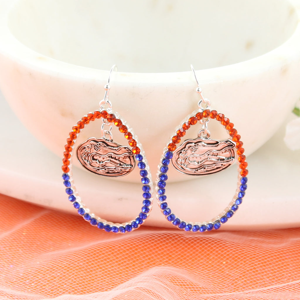 Florida Crystal Loop Earrings