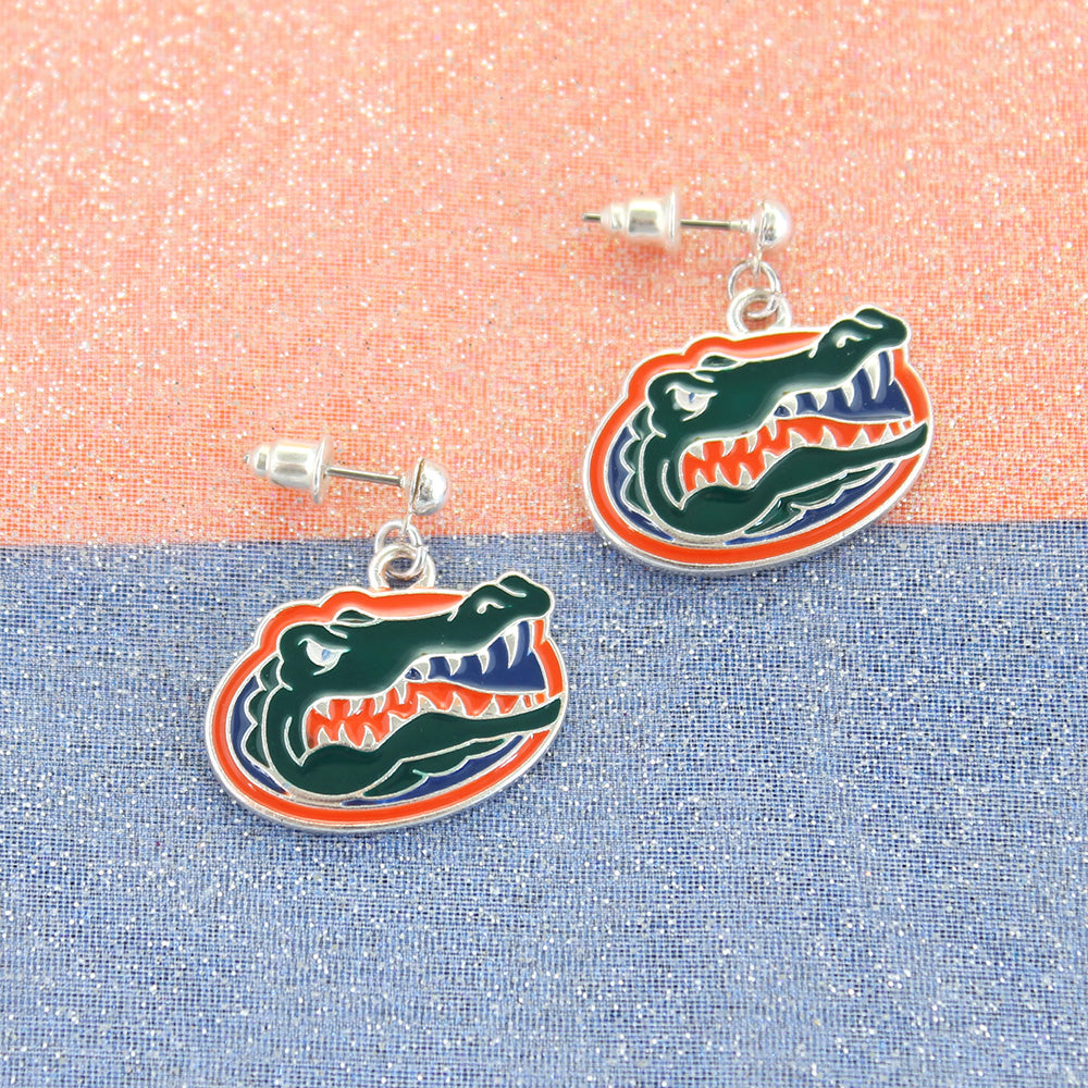 Florida Enamel Logo Earrings