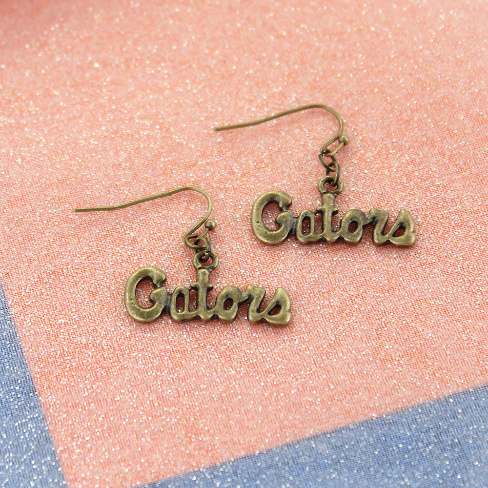 Florida Vintage Style Logo Earrings