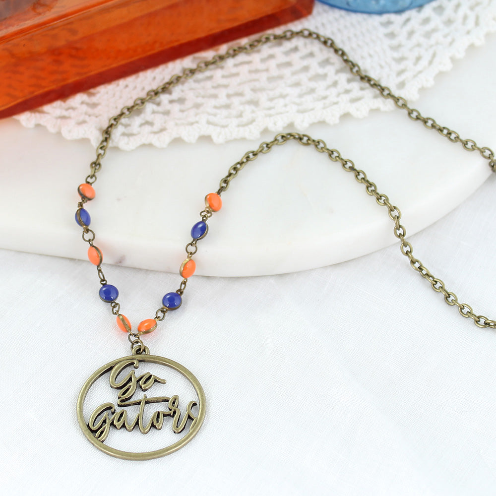 "34"" Florida Vintage Style Cutout Slogan Necklace"