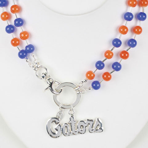 Seasons Jewelry Florida Beaded Logo Necklace