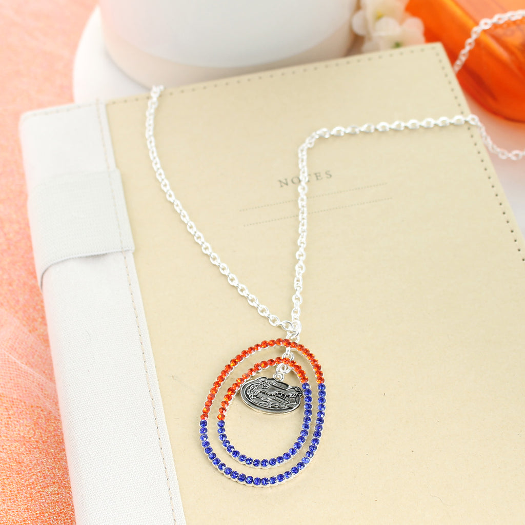 "34"" Florida Crystal Loop Necklace"