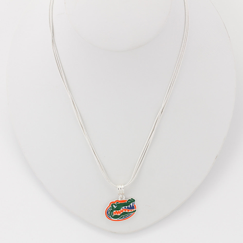 Florida Enamel Logo Necklace