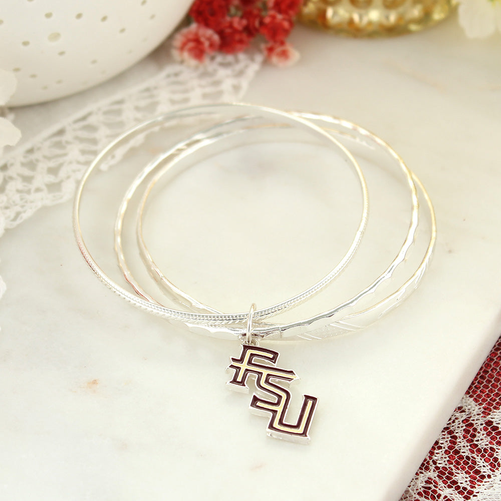 Florida State Logo Bangle Bracelets