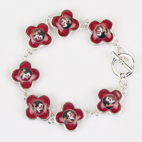 Seasons Jewelry Collegiate Florida State Quatrefoil Bracelet