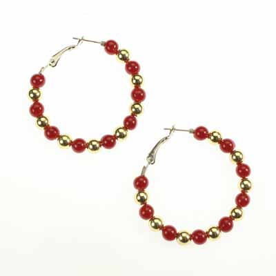Florida State Beaded Hoop Earrings