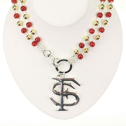 Florida State Logo Beaded Necklace
