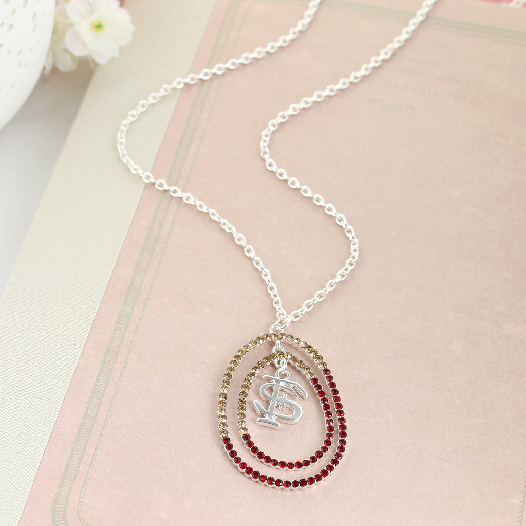 "34"" Florida State Crystal Loop Necklace"
