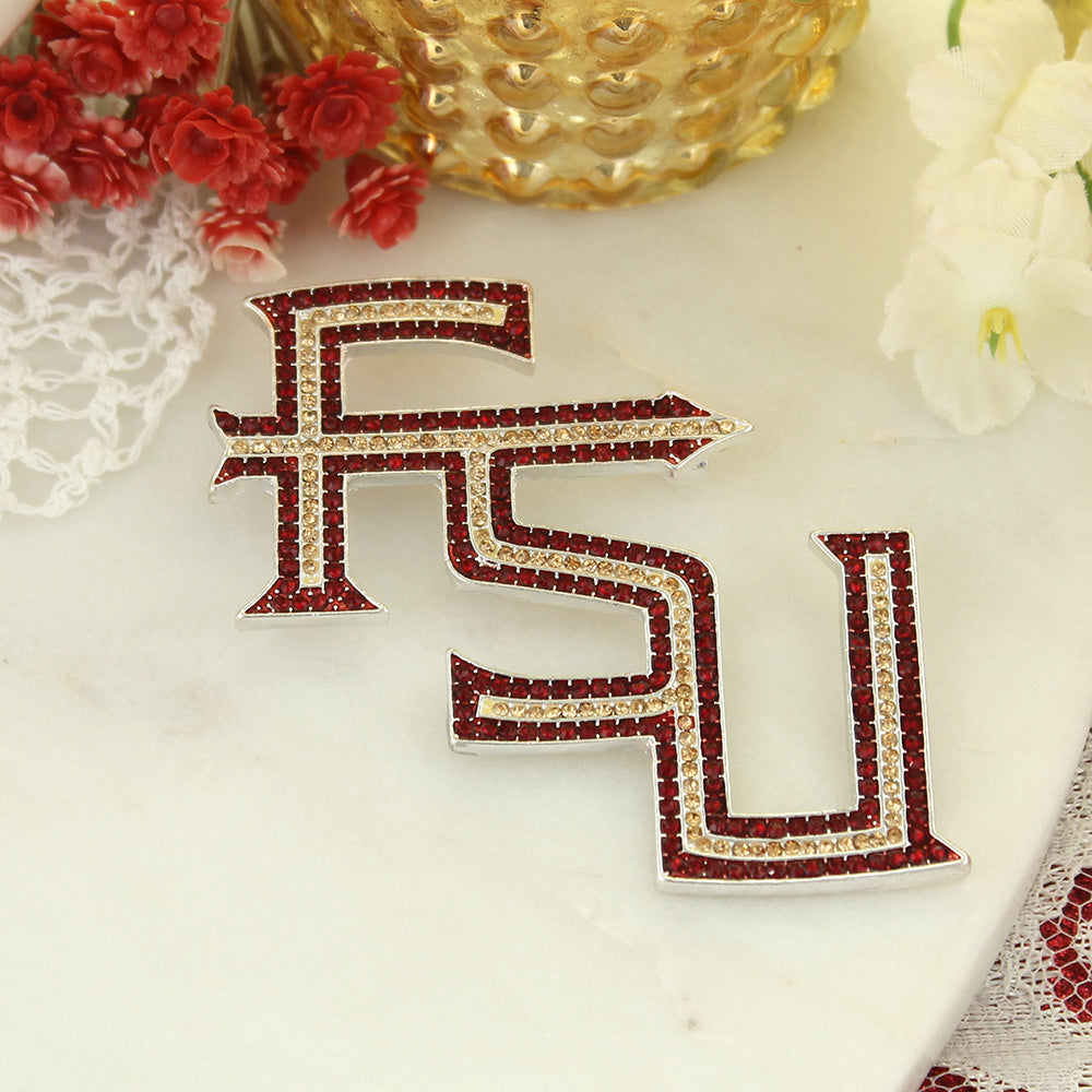 Florida State Crystal Logo Pin