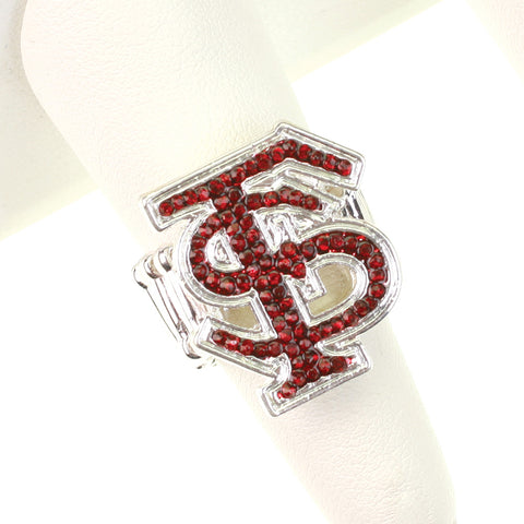 Florida State Crystal Logo Stretch Ring