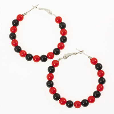 Georgia Beaded Hoop Earrings