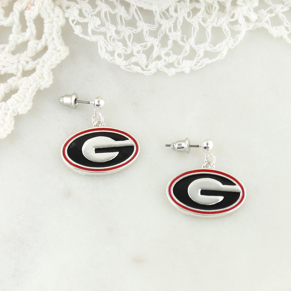 Georgia Enamel Logo Earrings