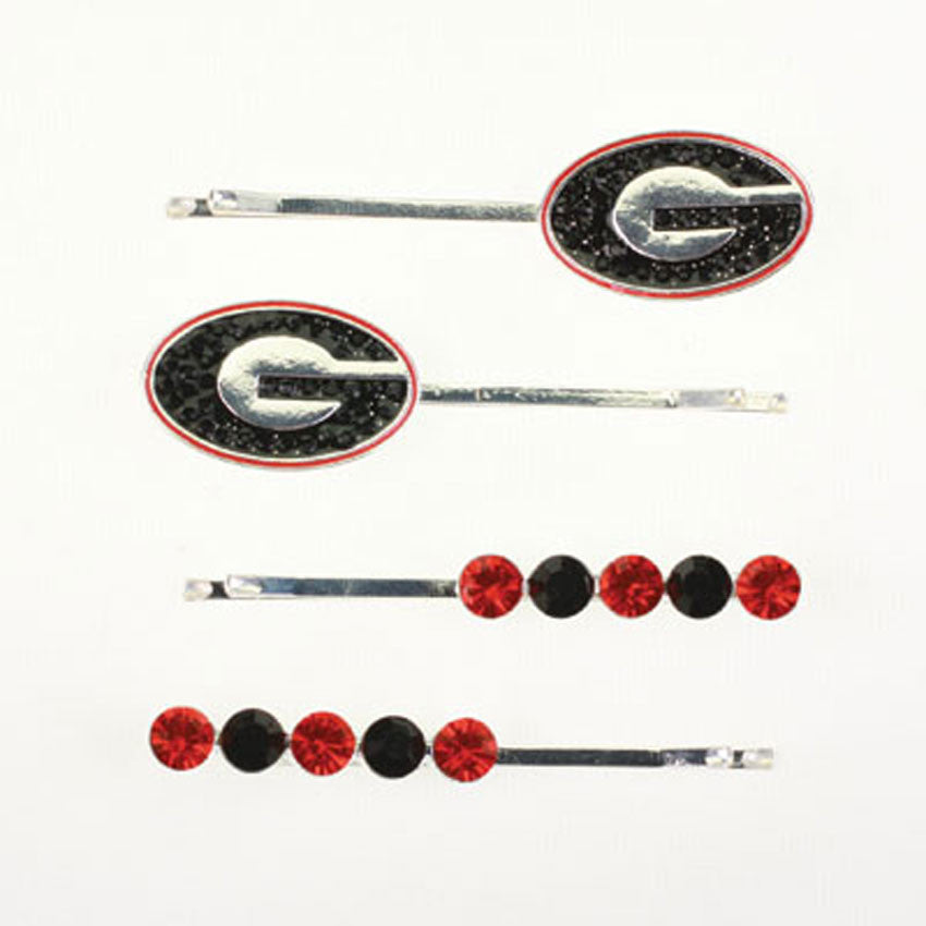 Seasons Jewelry Georgia Crystal Logo Hair Pin Set
