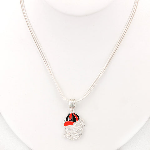 Georgia Enamel Logo Necklace