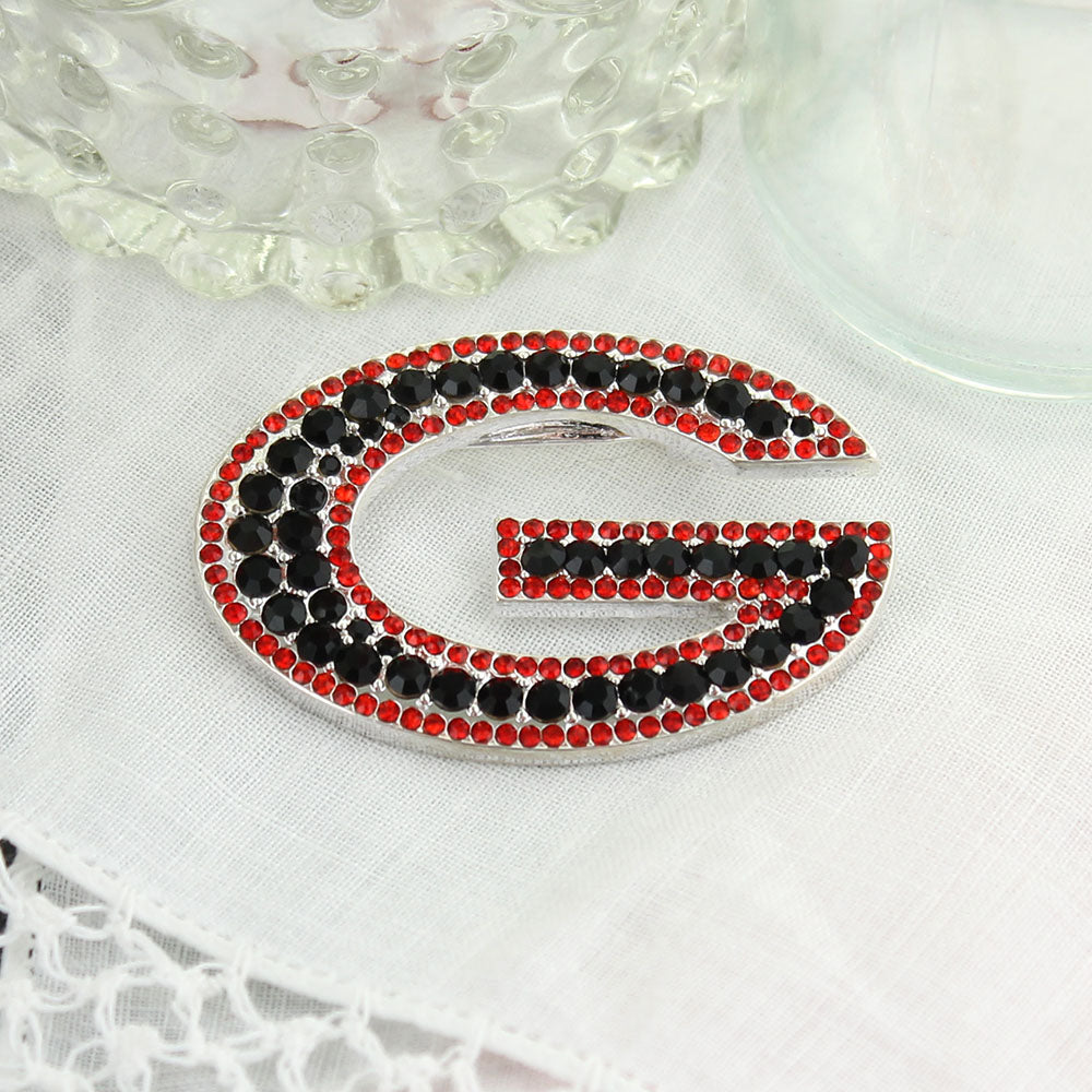 Georgia Crystal Logo Pin