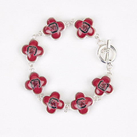 Seasons Jewelry Collegiate South Carolina Quatrefoil Bracelet