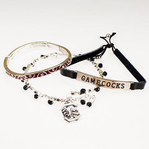 South Carolina Trio Bracelet Set