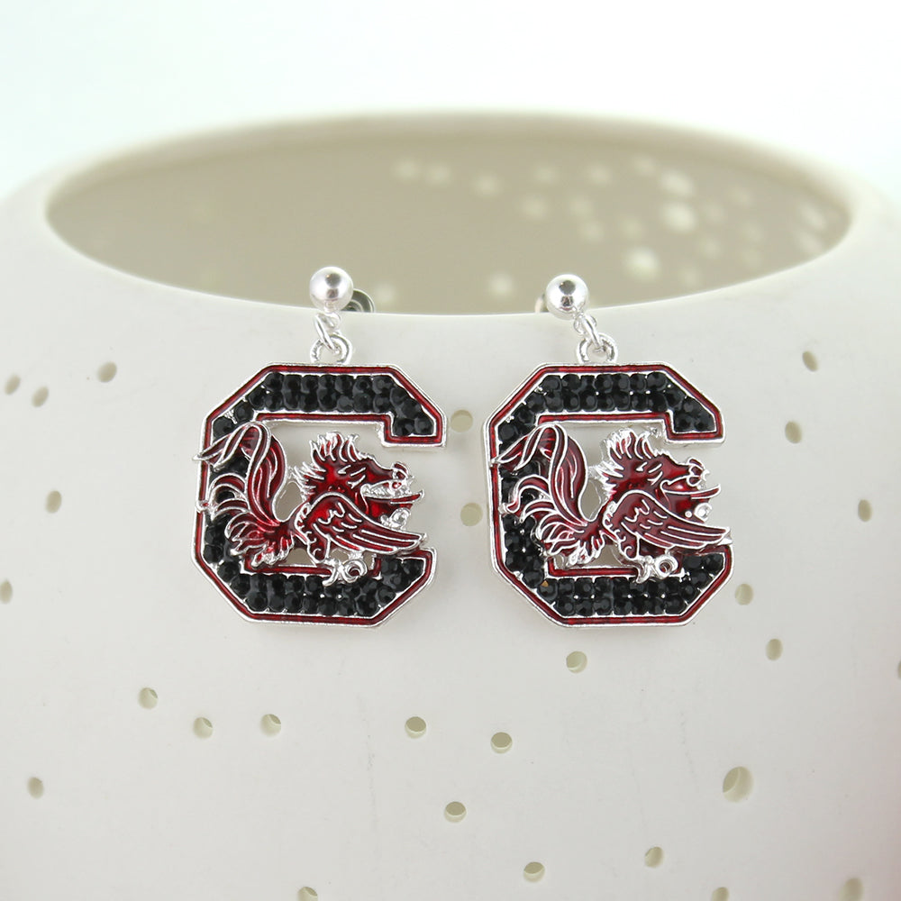 South Carolina Crystal Logo Earrings