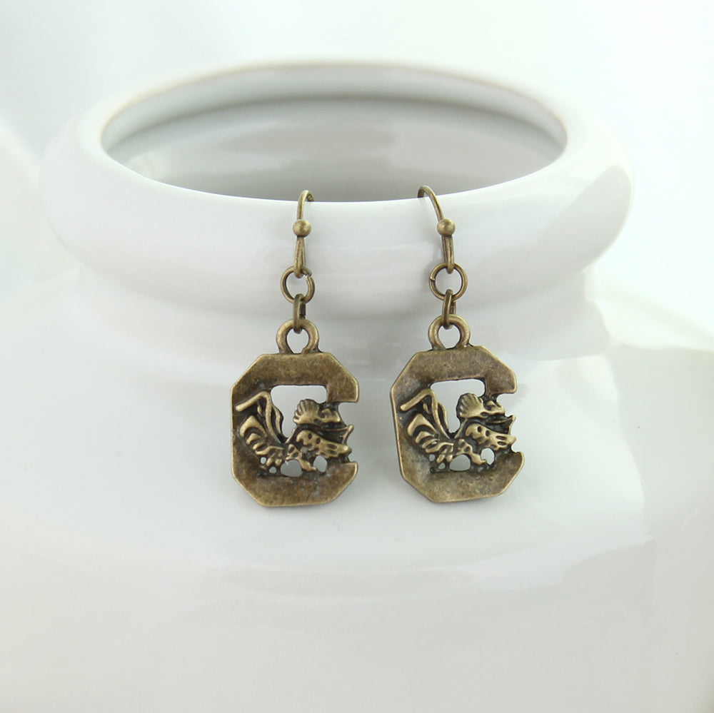 South Carolina Vintage Style Logo Earrings