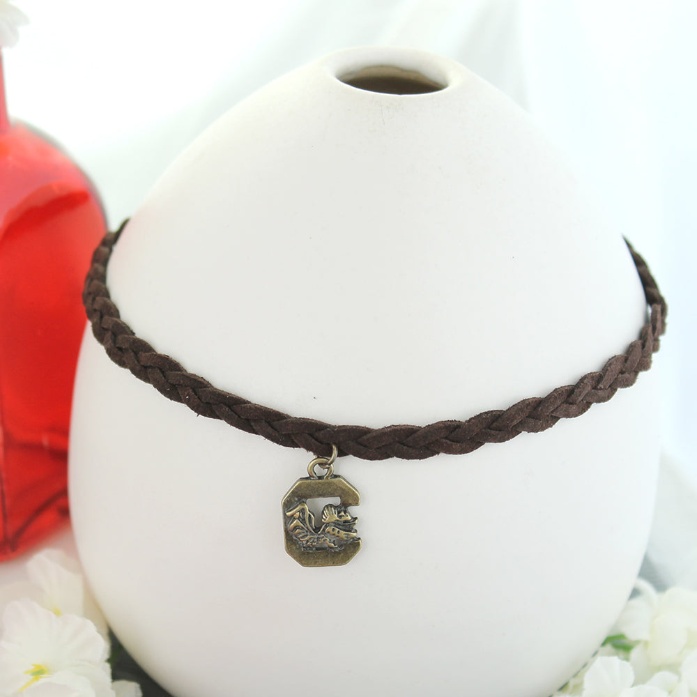 South Carolina Vintage Style Logo Braided Choker