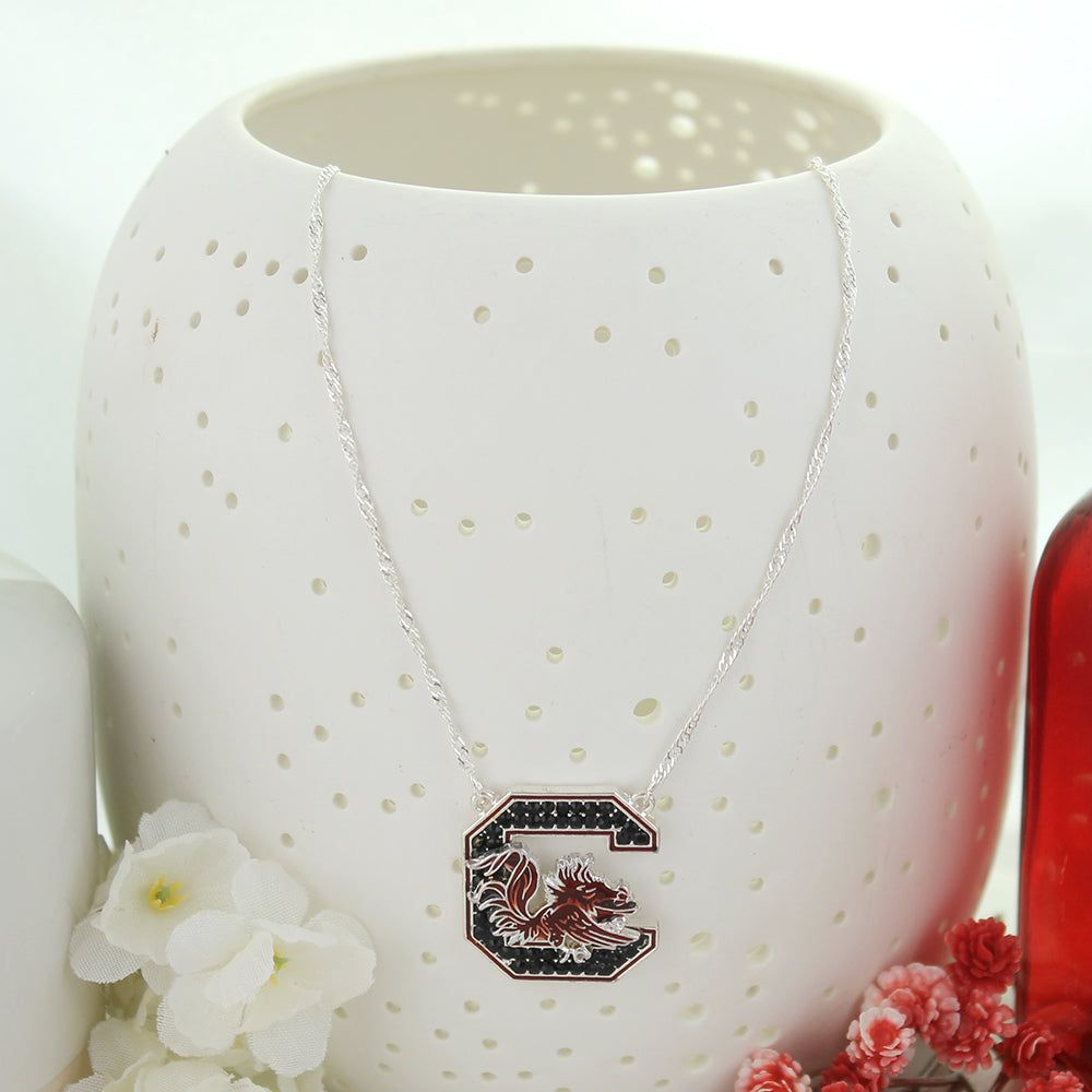 South Carolina Crystal Logo Necklace