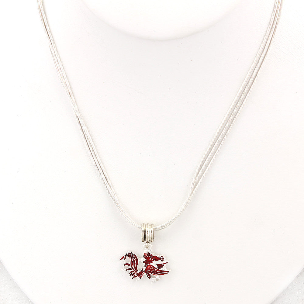 South Carolina Enamel Logo Necklace